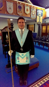 This is me as the Junior Deacon of my lodge.